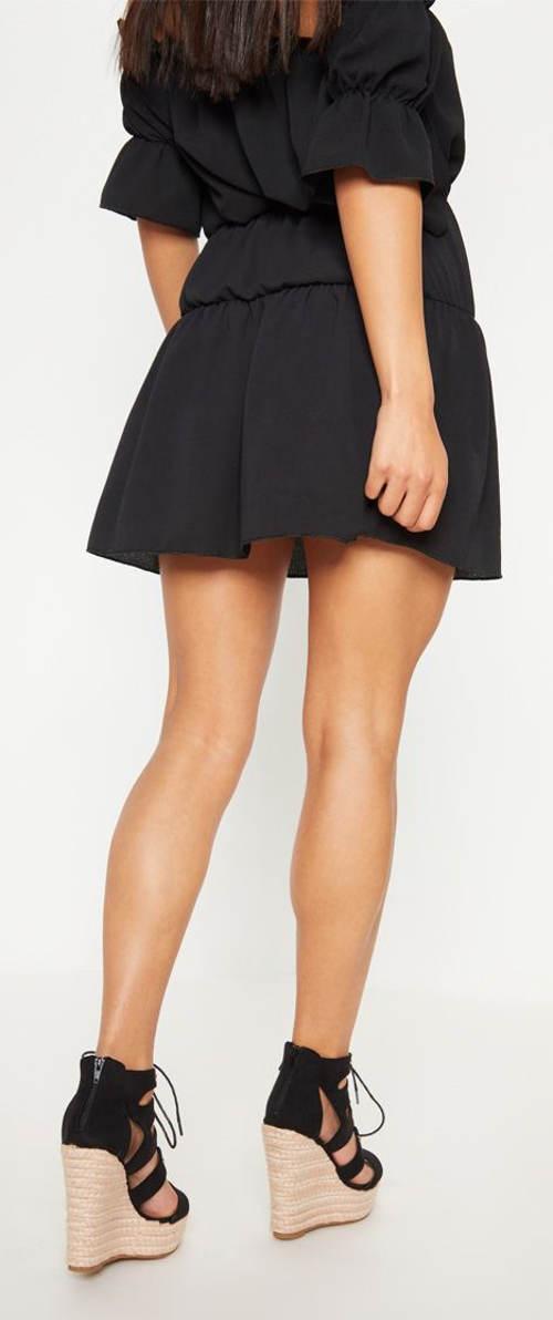 Lehounká mini sukně s nařaseným lemem