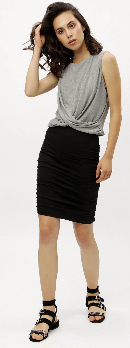 Letní černá sukně na gumu