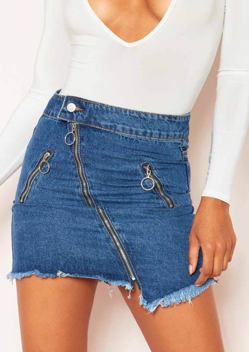 Moderní džínová minisukně