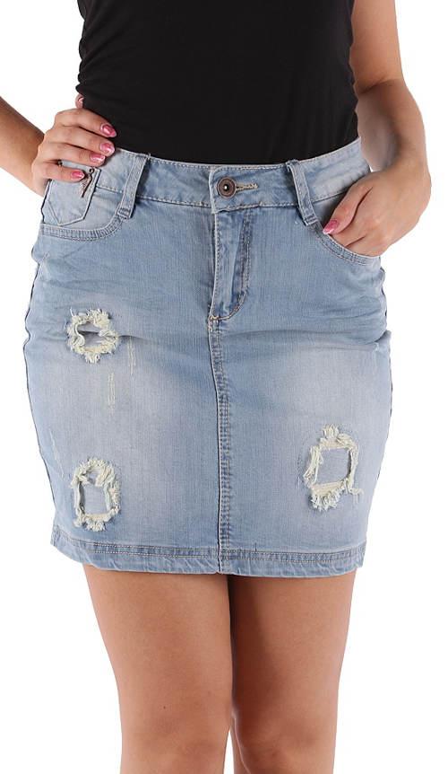 Potrhaná džínová sukně