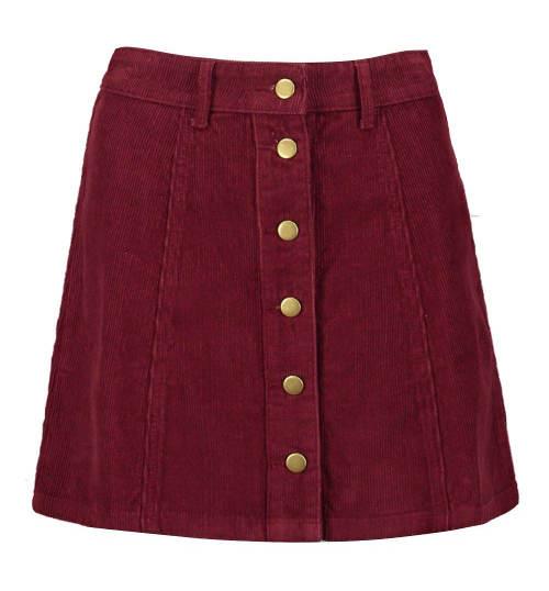 Propínací knoflíky po celé délce sukně