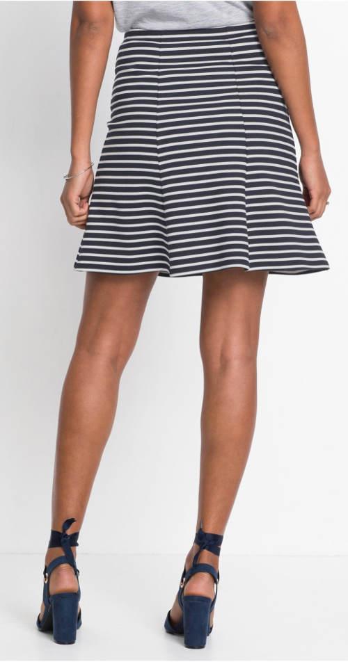 Pruhovaná letní áčková sukně