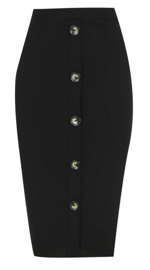 Společenská džínová sukně s knoflíky