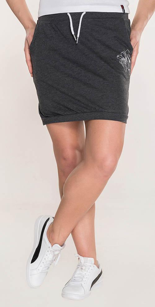 Tmavě šedá krátká sportovní sukně