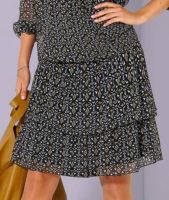 Vrstvená volánová sukně s potiskem