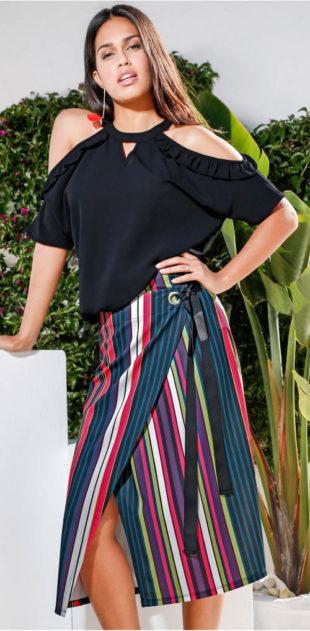 Zavinovací pestrobarevná sukně