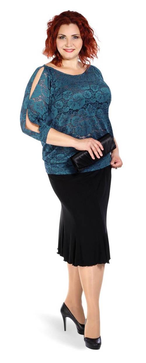 Dámská společenská sukně pro silnější postavy