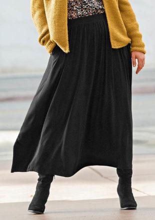 Dlouhá černá sukně pro každodenní nošení