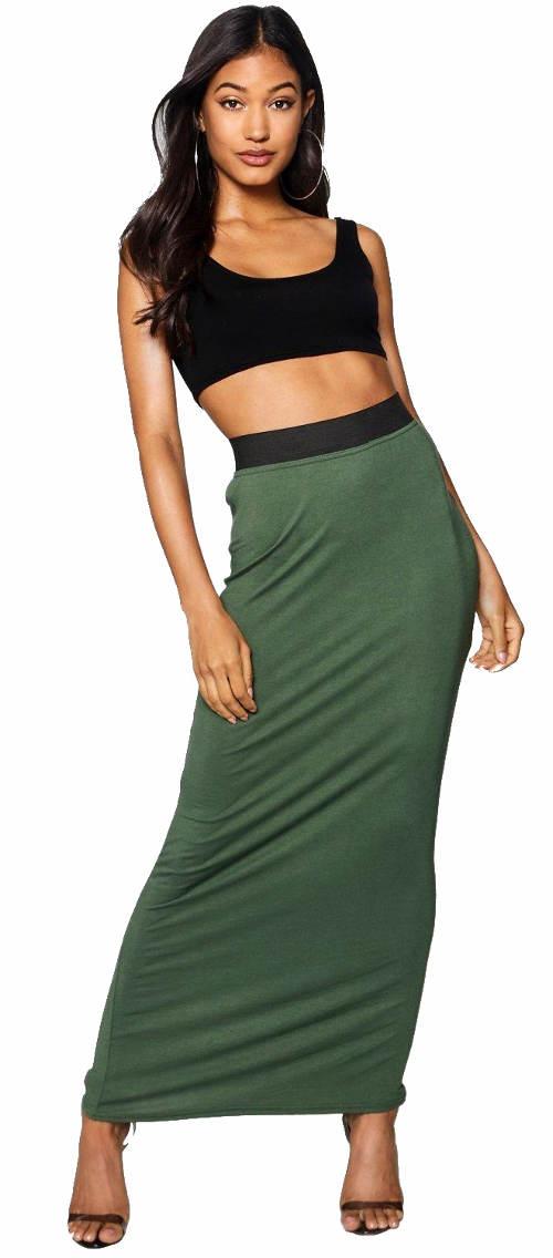 Dlouhá úplá dámská sukně