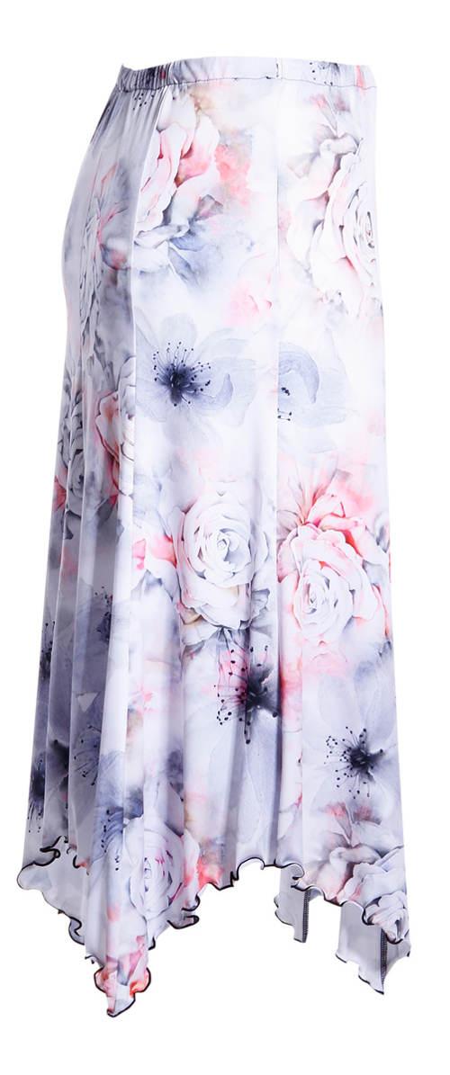 Letní osmidílová sukně v pase do pohodlné gumy