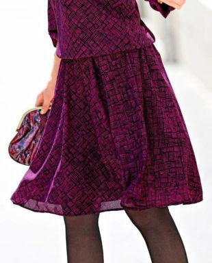 Levná vzdušná sukně pro plnoštíhlé