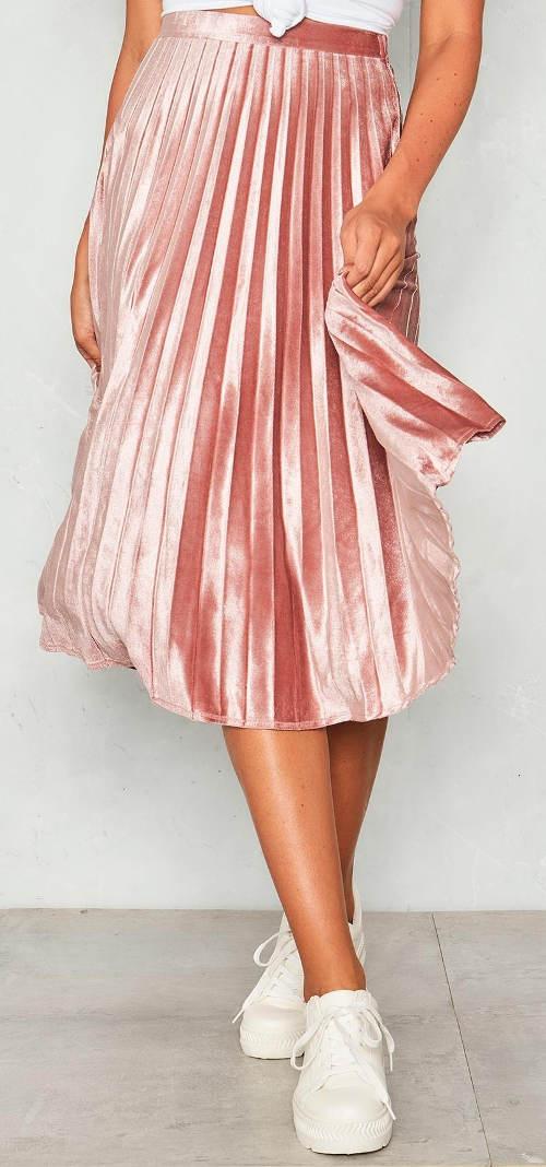 Luxusní růžová sukně na svatbu