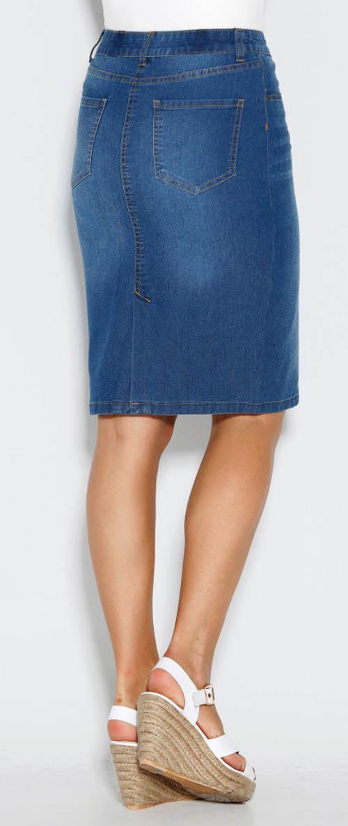 Riflová sukně na gumu v pase e3f0f4a874