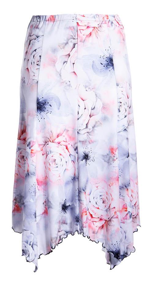 Romantická sukně s růžemi pro plnoštíhlé