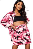 Růžová maskačová džínová sukně