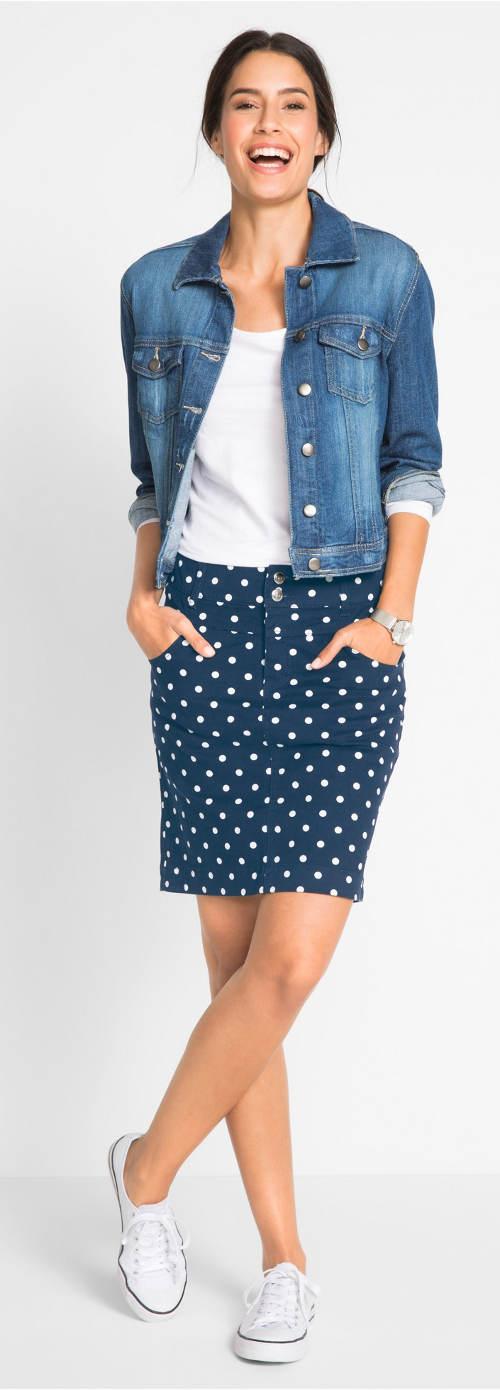 Strečová sportovní sukně s kapsami