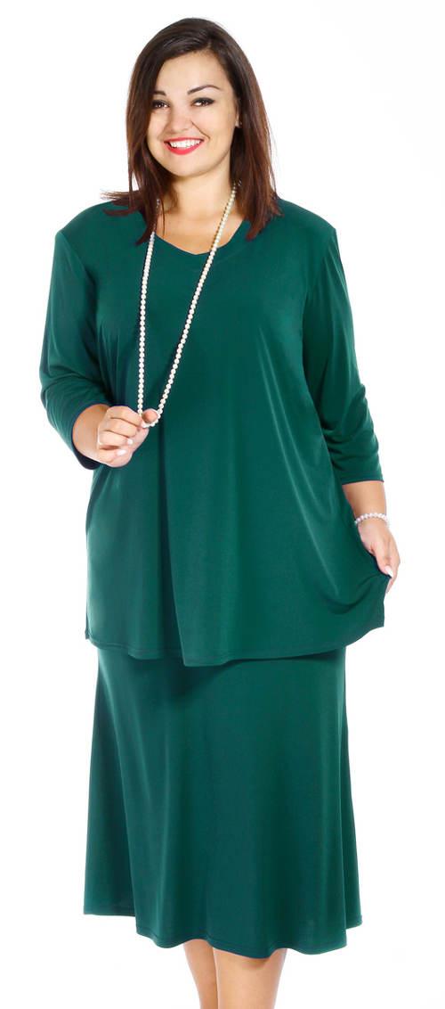 Zelená společenská sukně Petrklíč