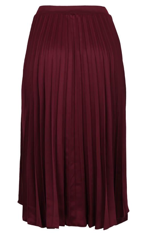 Delší dámská sukně s plisováním