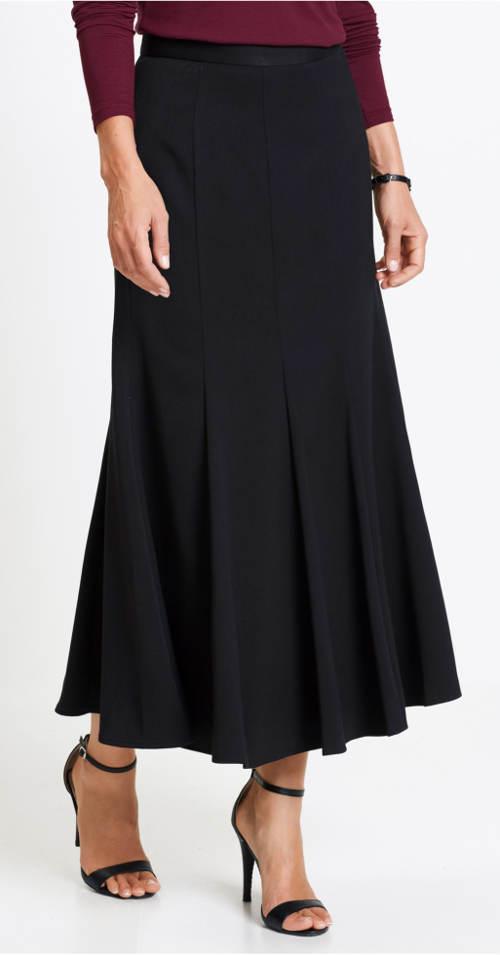 Dlouhá skládaná společenská sukně