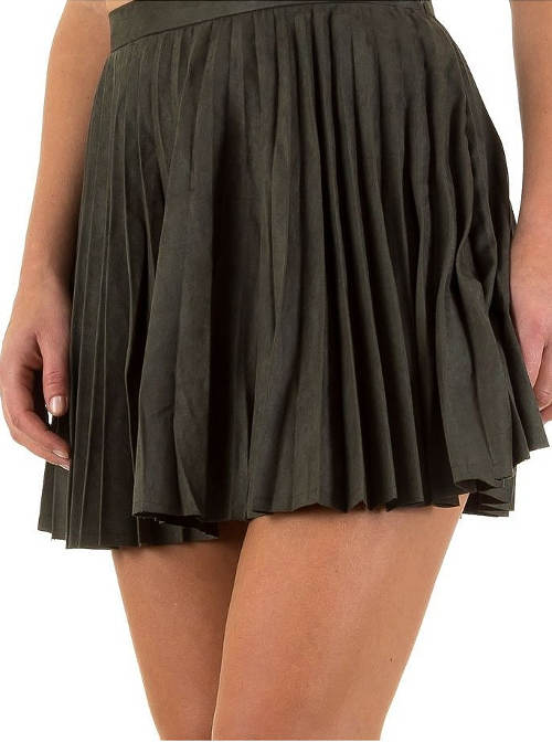 Krátká plisovaná volnočasová sukně