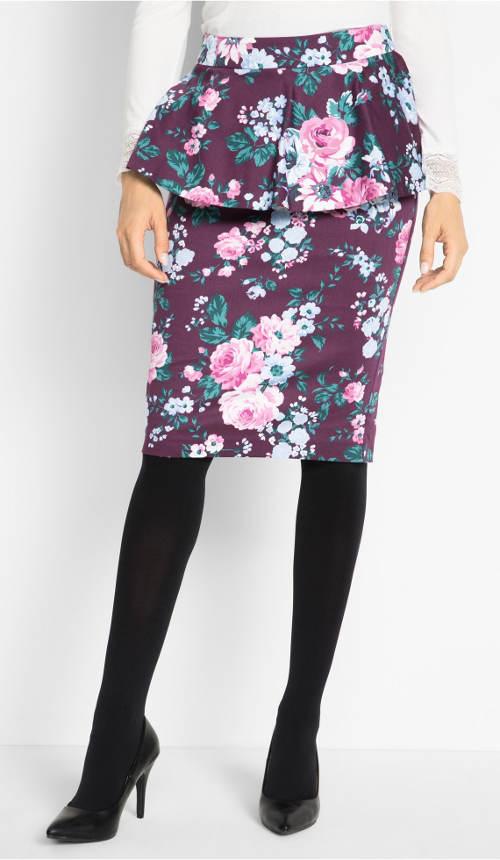 Peplum sukně s kanýrem
