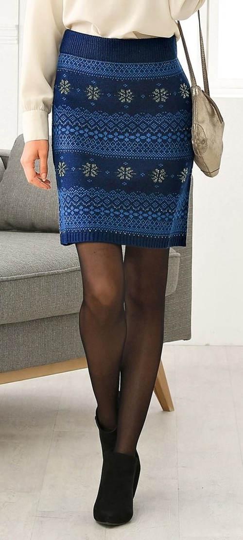 Pletená žakárová sukně výprodej