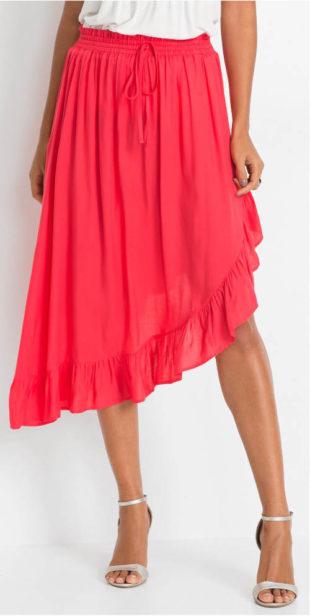 Asymetrická letní sukně