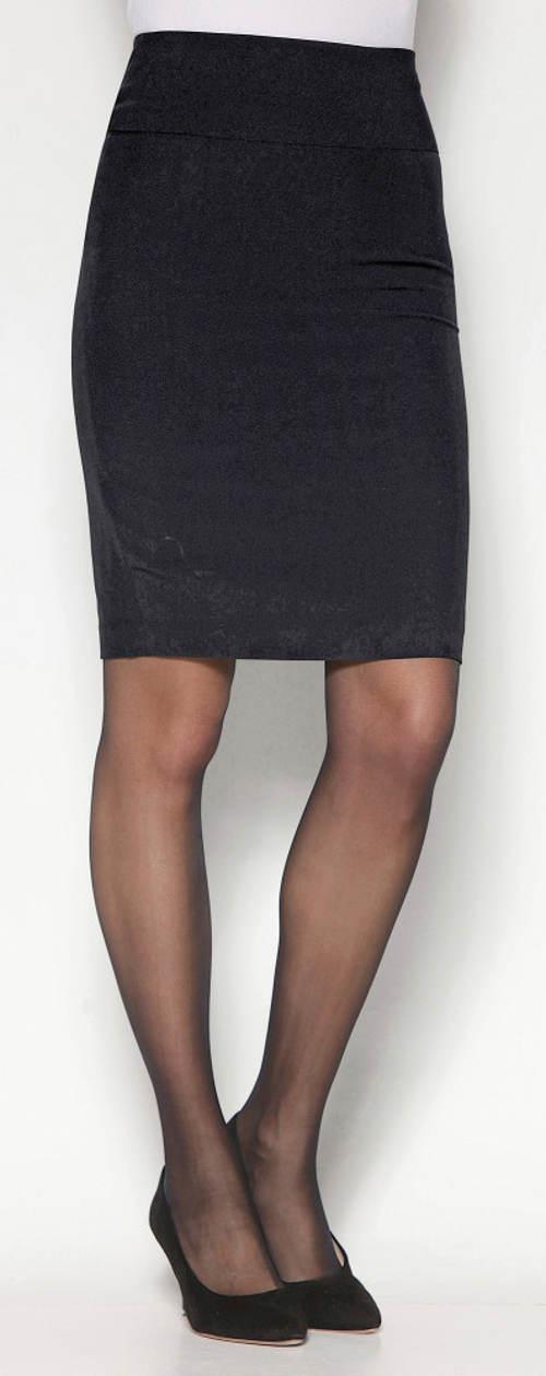 Černá pouzdrová sukně s rozparkem