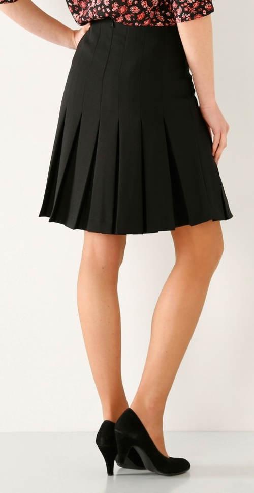 Černá společenská skládaná sukně