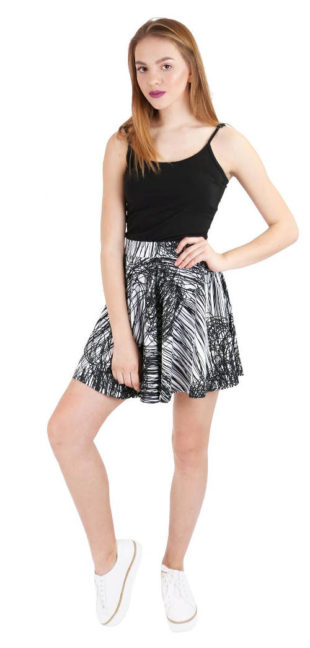 Černobílá letní sukně