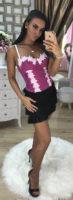 Dámská černá mini sukně Foggi s třásněmi