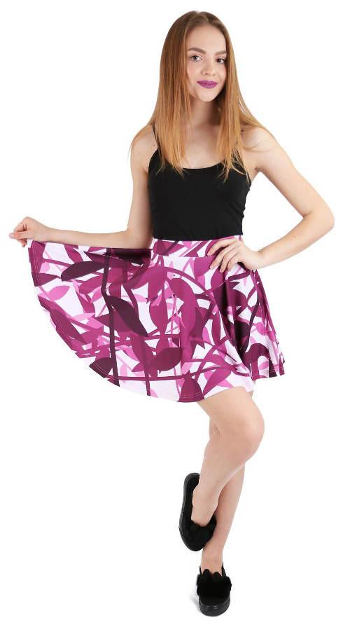 Fialová letní sukně na dovolenou