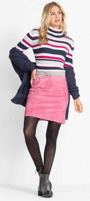 08759c1236f Kratší semišová sukně