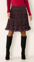 Lehká plisovaná sukně s potiskem