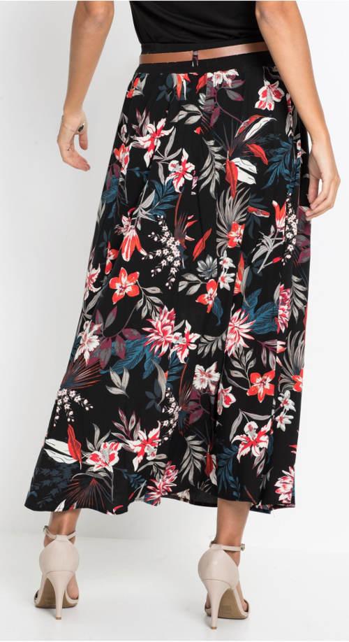 Letní květinová společenská sukně