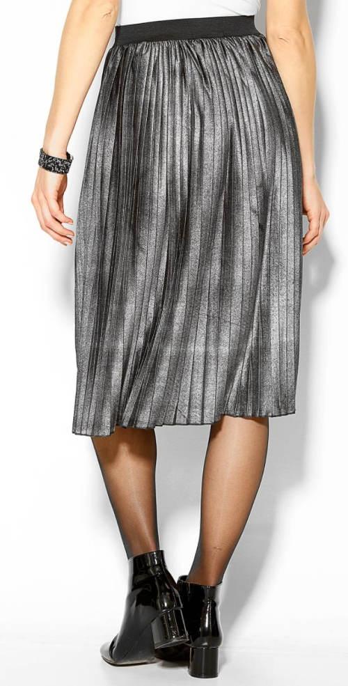 Metalická plisovaná sukně