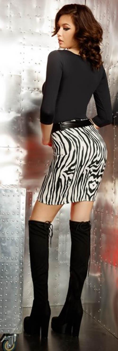 Minisukně zebra