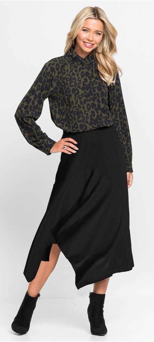 Moderní úpletová sukně