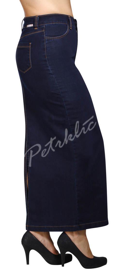 325792cba4c Nadměrná džínová sukně pro silnější postavy ...