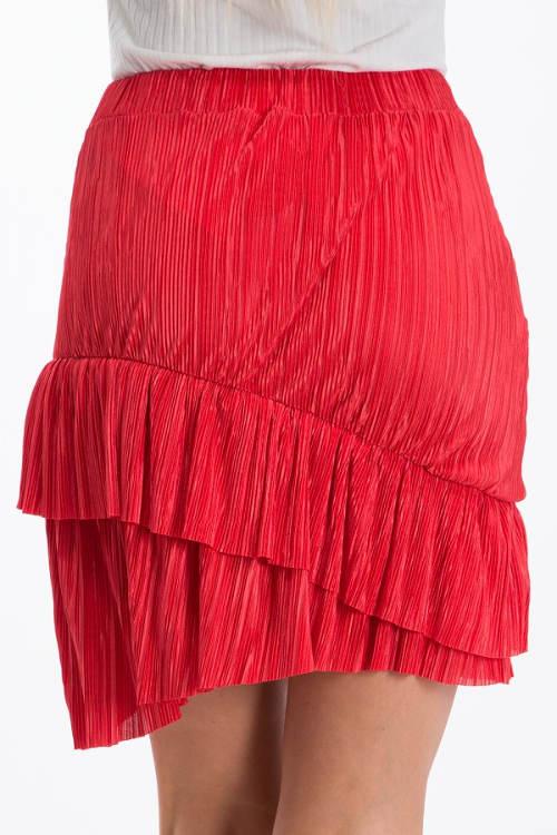 Řasená vrstvená sukně