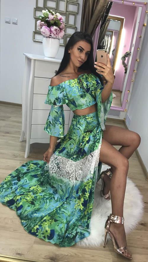 Sexy sukně a top
