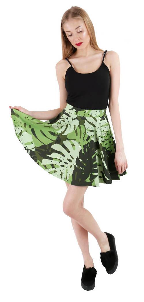 Skládaná krátká letní sukně