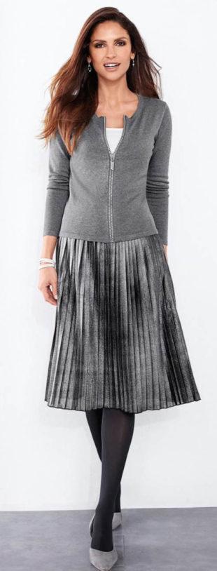 Sukně s plisováním a pružným pasem