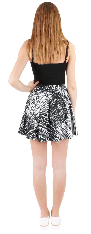 Žíhaná letní sukně