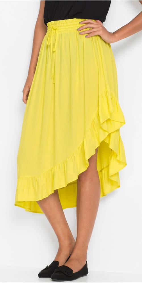 Žlutá letní sukně