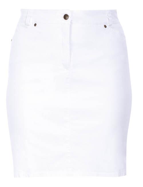Bílá společenská sukně pro plnoštíhlé