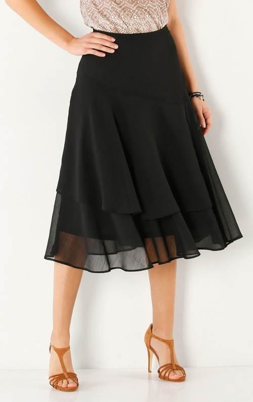 Černá plesová sukně