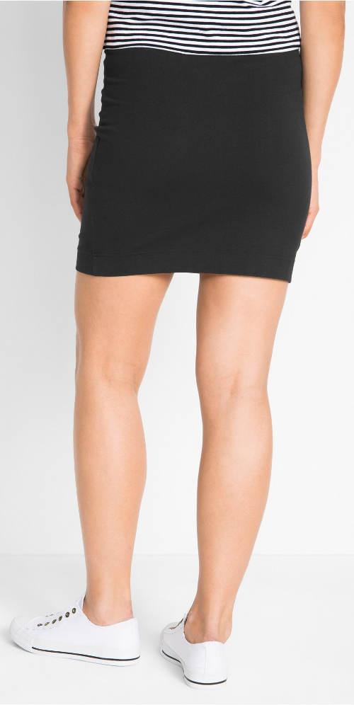 Černá strečová letní sukně