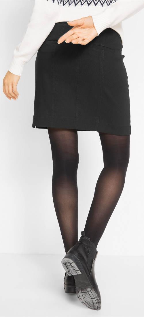 Černá sukně zeštíhlující boky