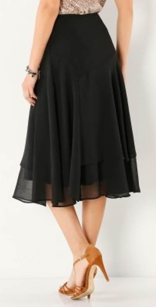 Černá vrstvená společenská sukně